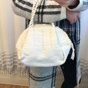 Vintage White Crochet Tote